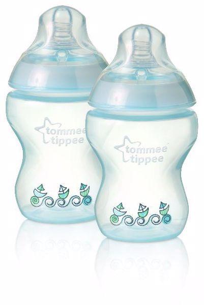 Tommee Tippee CTN Decorated 2*260 ml Blue műanyag cumisüveg - Brendon - 771