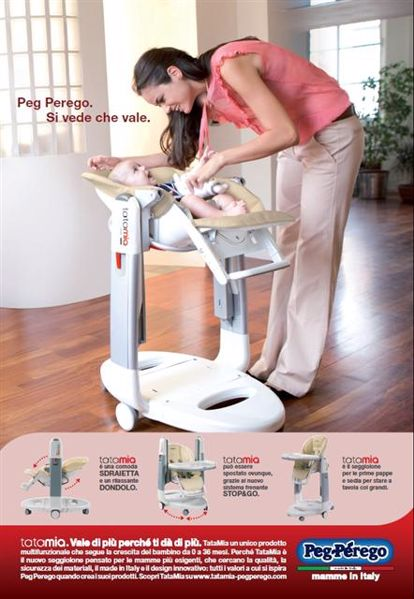 Peg Perego Tatamia Paloma etetőszék műanyag - Brendon - 3071
