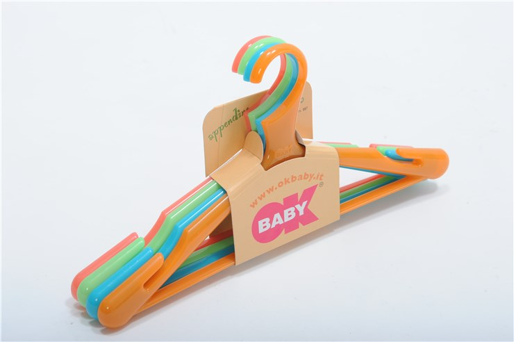 OK Baby Loop 4 pcs hangers   Orange/Pink/Blue/Green vállfa - Brendon - 3928