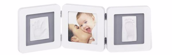 Baby Art My Baby Touch Double White & Grey fotorám - Brendon - 4215