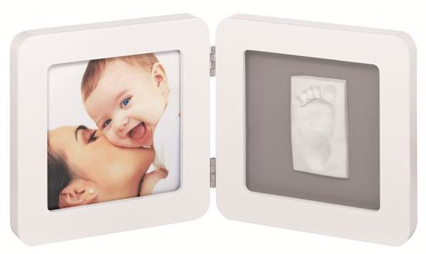 Baby Art My Baby Touch Simple White & Grey fotorám - Brendon - 4216