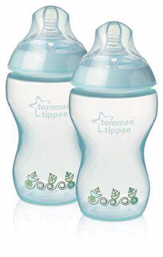 Tommee Tippee CTN Decorated bottle 2*340 ml Blue cumlíková fľaša plastová - Brendon - 4433