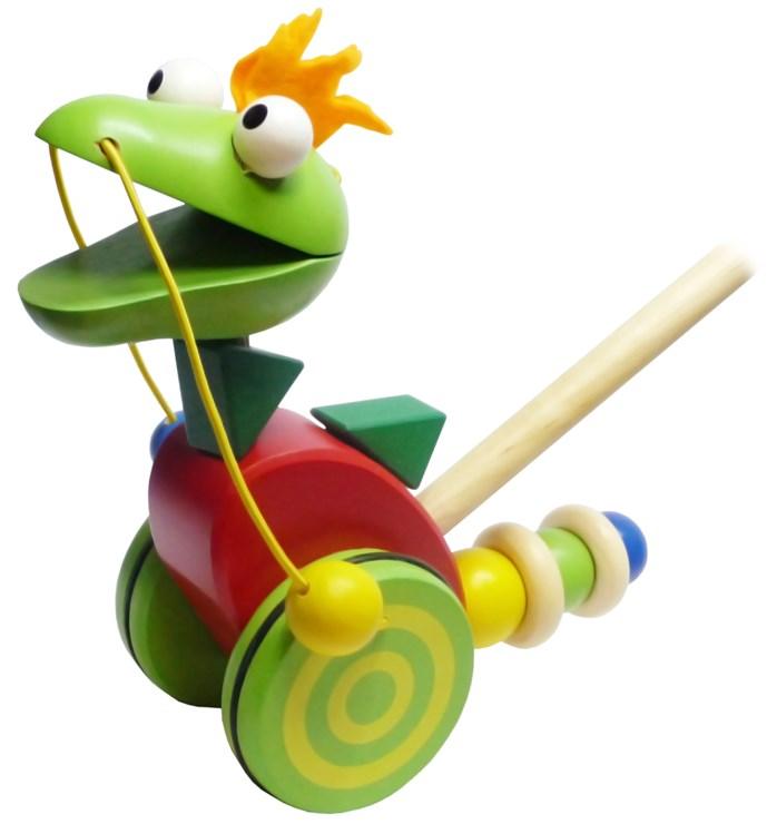 Fakopáncs Pull&Push Dragon hračka na ťahanie - Brendon - 4503