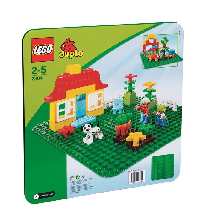 LEGO DUPLO Large Building Plate (24x24studs) 2304 Green stavebnica - Brendon - 4816