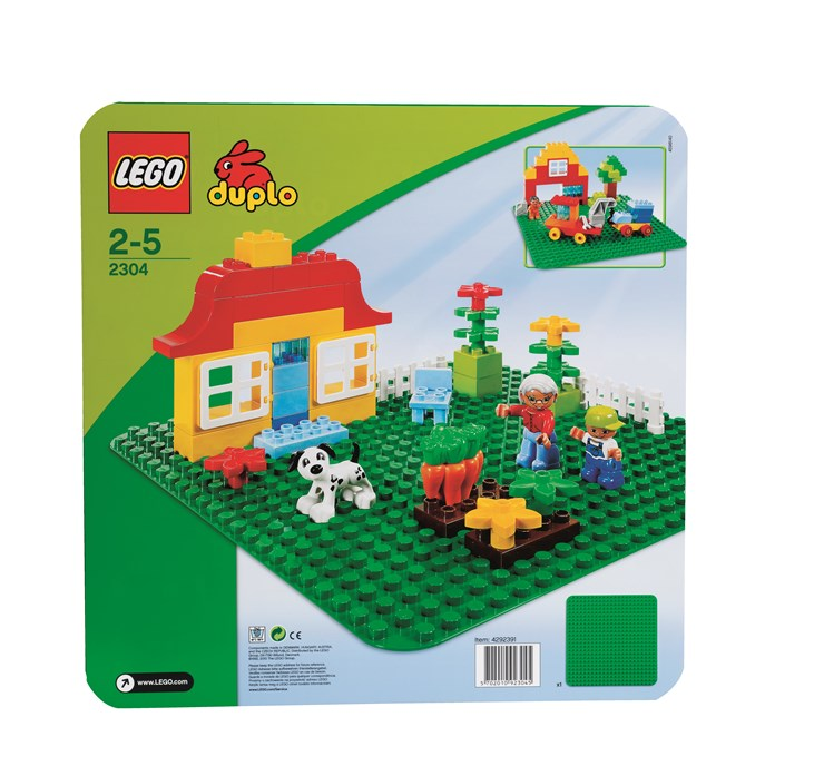 LEGO DUPLO Large Building Plate (24x24studs) 2304 Green stavebnica - Brendon - 4817