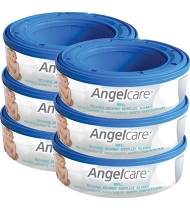 Angelcare Captiva casette 6 pcs Round  pelenkatartó vödör utántöltő - Brendon - 6642