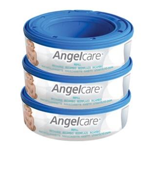 Angelcare Captiva casette 3 pcs Round  náhradné náplne do vedra na plienky - Brendon - 7066
