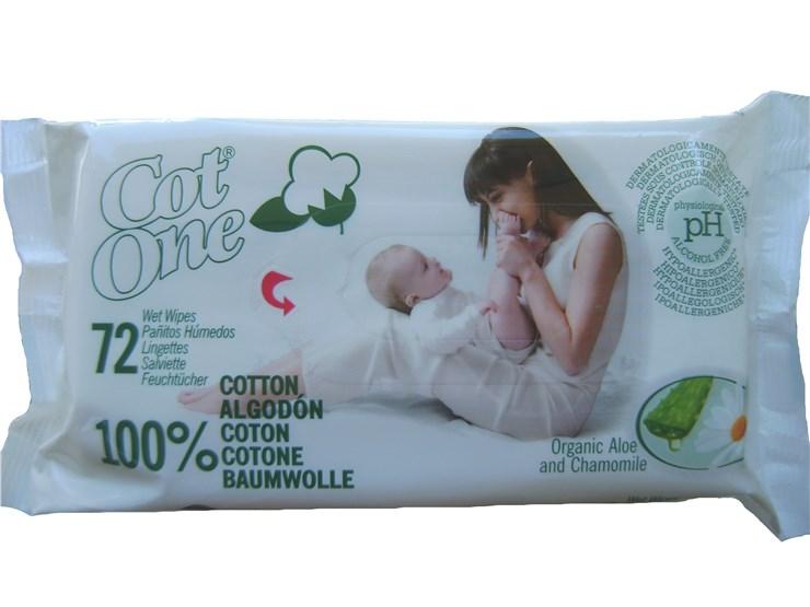 Bio-Bio Baby Bio Cot One 72 pcs  törlőkendő - Brendon - 9234