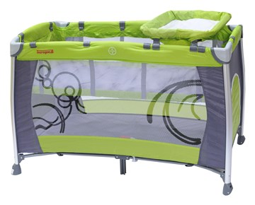 Touragoo Florina 120x68 Green/Grey utazóágy - Brendon - 9622