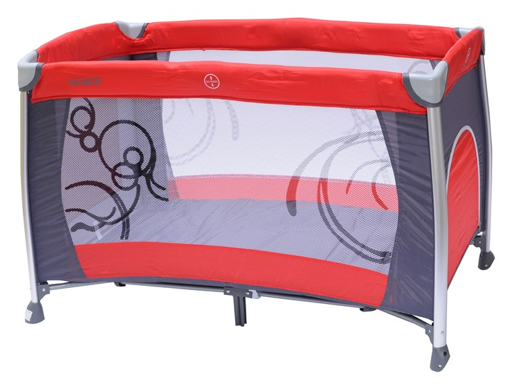 Touragoo Florina 120x68 Red/Grey utazóágy - Brendon - 9629