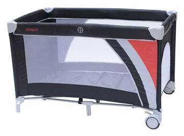 Touragoo Volos Wheels and Zipper 112x60 Black utazóágy - Brendon - 9633