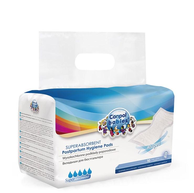 Canpol babies Superabsorbent postpartum hygiene pads 10 pcs  gyermekágyas betét - Brendon - 9721