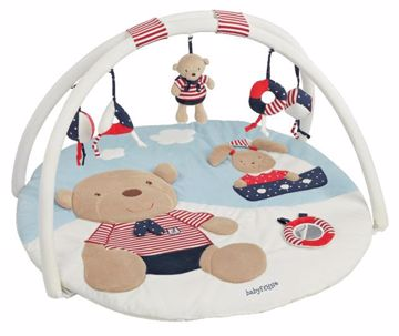 Fehn 3-D-activity-quilt Ocean Club Teddy-Hare hracia deka - Brendon - 10004