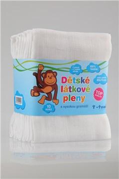 T-tomi Muslin wraps 70*70 10 pcs white textilná plienka - Brendon - 10422