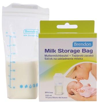 Brendon Milk Storage Bag 16 pcs  tejtároló fagyasztózacskó - Brendon - 15355