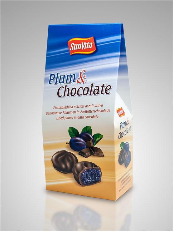 SunVita Plum & Chocolate 200g  aszalt gyümölcs - Brendon - 15989
