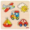 Picture of Goki Lift-out puzzle basic My journey forma- és színegyeztető