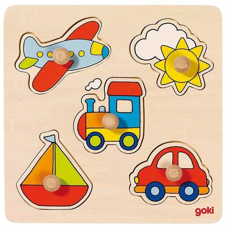 Goki Lift-out puzzle basic My journey forma- és színegyeztető - Brendon - 18225