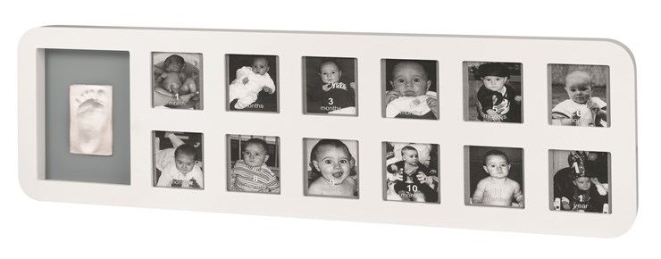 Baby Art My First Year White&Grey fotorám - Brendon - 19151