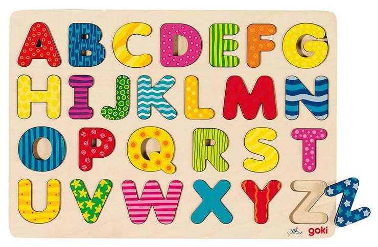 Goki Alphabet puzzle  zjednocovanie tvarov a farieb - Brendon - 19194