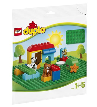 LEGO DUPLO Large Building Plate (24x24studs) 2304 Green stavebnica - Brendon - 19563