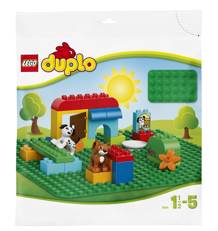LEGO DUPLO Large Building Plate (24x24studs) 2304 Green stavebnica - Brendon - 19564