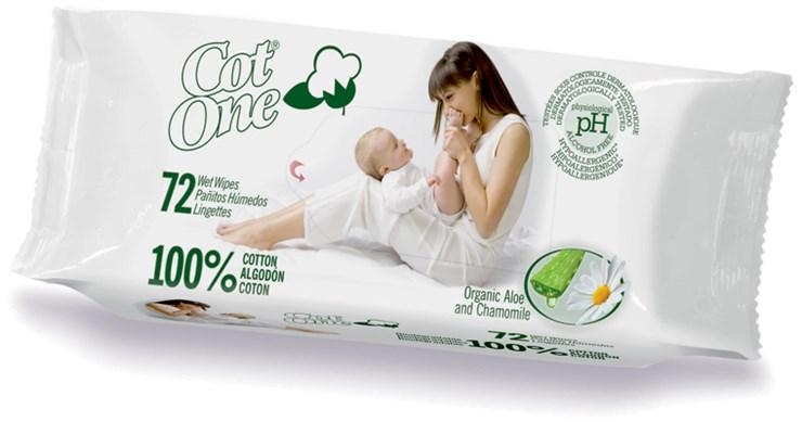 Bio-Bio Baby Bio Cot One 72 pcs  törlőkendő - Brendon - 24377