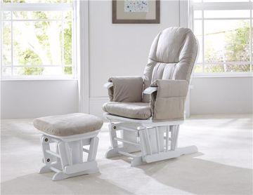 tutti Bambini Recliner Glider White szoptatós fotel - Brendon - 24610