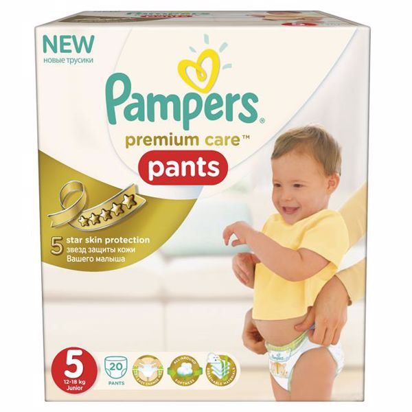 Pampers Pants Premium Care Carry Box 5 Junior 20 pcs    bugyipelenka - Brendon - 24668