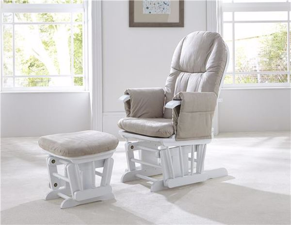 tutti Bambini Recliner Glider White kreslo na odpočívanie  - Brendon - 25610