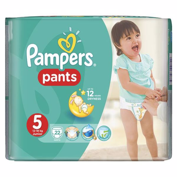 Pampers Pants Carry Pack 5 Junior 22 pcs  plienkové nohavičky - Brendon - 28005
