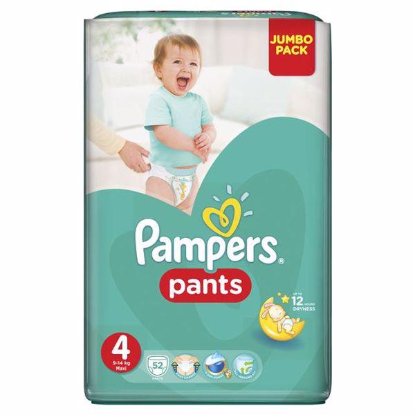 Pampers Pants Jumbo Pack 4 Maxi 52 pcs  plienkové nohavičky - Brendon - 28009