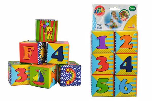 ABC Soft Cubes  kézügyesség fejlesztő - Brendon - 30411