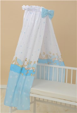 Bollaby BFT Bunny Blue baldachýnová záclona - Brendon - 31215