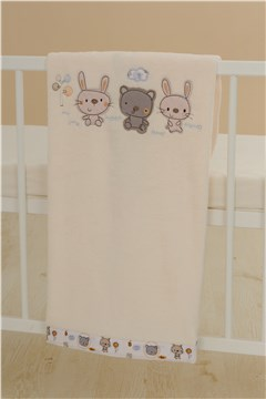 Brendon PL-E-WSP/75*100 Rabbit & Bear Blue prikrývka - Brendon - 31265