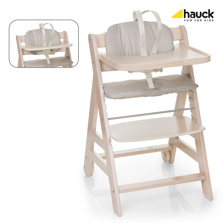 3da333d43661 Hauck Beta+ Whitewashed   Dots drevená stolička na kŕmenie - Brendon -  31302 ...