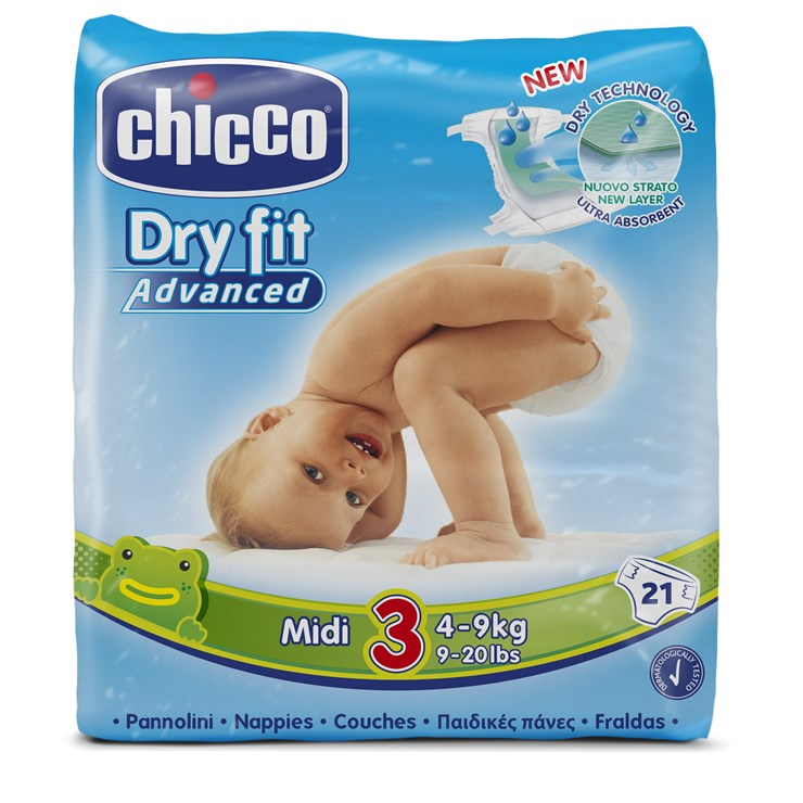 Chicco Dry Fit Midi new 21 pcs  eldobható pelenka - Brendon - 33168