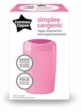 Tommee Tippee Sangenic Simplee pink pelenkatartó vödör - Brendon - 33184
