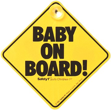 Safety 1st Baby on Board  Yellow baby on board jelzés - Brendon - 33449