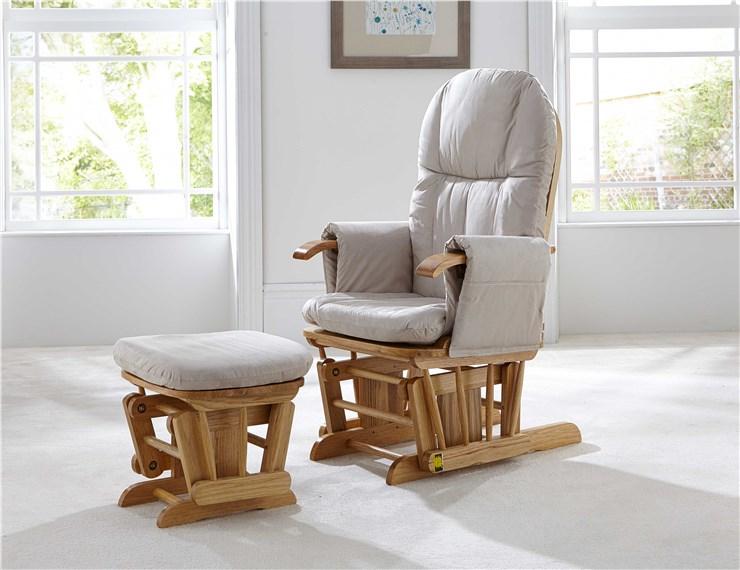 tutti Bambini Recliner Glider Natural kreslo na kojenie - Brendon - 34640