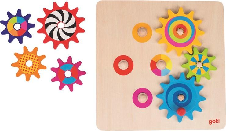 Goki Cogwheel game  forma- és színegyeztető - Brendon - 36216