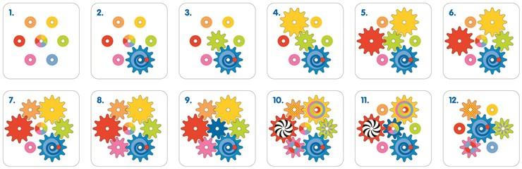 Goki Cogwheel game  forma- és színegyeztető - Brendon - 36217