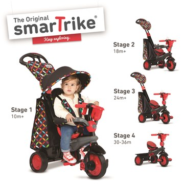 smarTrike Boutique 4 in1 TS Red new tricykel - Brendon - 37848