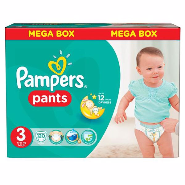 Pampers Pants Mega Box 3 Midi 120 pcs  bugyipelenka - Brendon - 39268