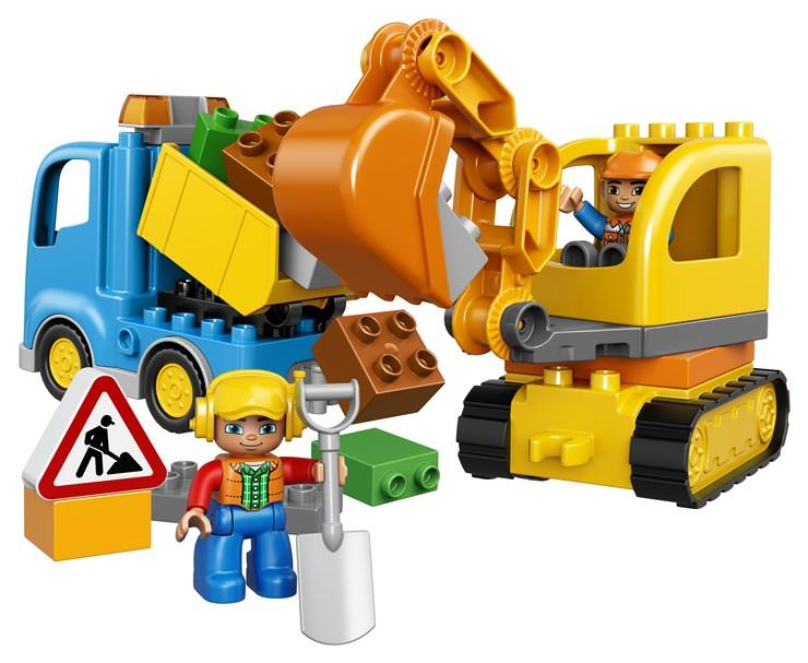 LEGO DUPLO Truck & Tracked Excavator 10812  építőjáték - Brendon - 42688