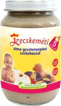 Kecskeméti Alma-gesztenyepüré csirkehússal 190g  bébiétel - Brendon - 45082