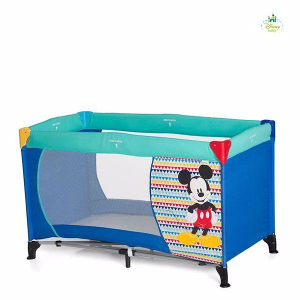 Hauck Disney Dream n Play 120x60 Mickey Geo Blue utazóágy