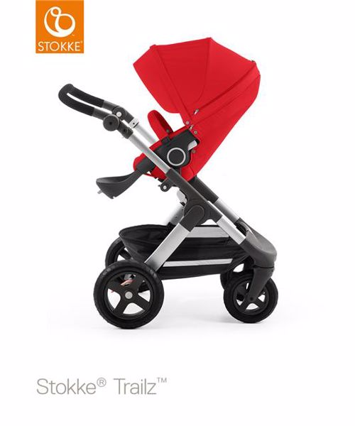 6058e0dd4 Stokke Trailz & seat Leatherette Terrain Wheels 2017 Red multifunkciós  babakocsi - Brendon - 54657 ...