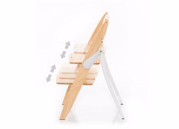 ABC Design Hopper Nature stolička na kŕmenie drevená - Brendon - 55811