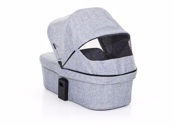 ABC Design Carrycot for Salsa 3/4, Zoom Coal vanička upevniteľná na konštrukciu detského kočíka - Brendon - 55814